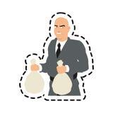 thief cartoon with money bag design Stock Photography