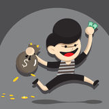 Thief cartoon Royalty Free Stock Image