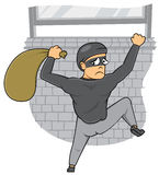 Thief Caught. Out of home stock illustration