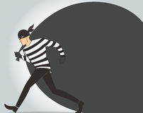 Thief character vector bandit cartoon illustration robber in a mask Royalty Free Stock Photography