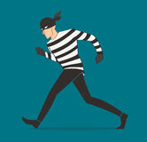 Thief character vector bandit cartoon illustration robber in a mask Royalty Free Stock Image