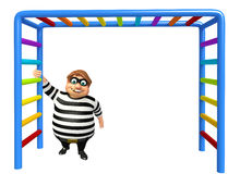 Thief with Climbing Royalty Free Stock Photo