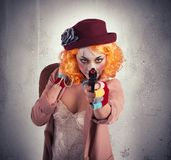 Thief clown Royalty Free Stock Images
