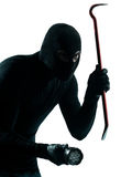 Thief criminal burglar portrait masked Royalty Free Stock Photos
