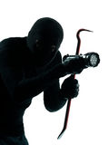Thief criminal burglar portrait masked Stock Images