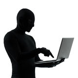 Thief criminal computer hacker Stock Image