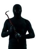 Thief criminal holding crowbar portait Stock Image