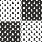 Thief or Crook Avatar Seamless Pattern Set Royalty Free Stock Photos