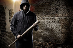 Thief in a dark alley Stock Photography