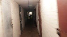 Thief in dark cellar stock footage