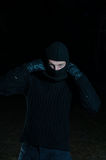 Thief in the dark Royalty Free Stock Photo