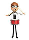 Thief with Drum. 3d rendered illustration of Thief with Drum Stock Photography