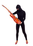 Thief with electric guitar Royalty Free Stock Images