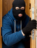 Thief. Thief entering the private property Royalty Free Stock Photography