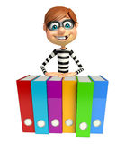 Thief with Files. 3d rendered illustration of Thief with Files Royalty Free Stock Image