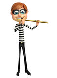 Thief with Flute Stock Image