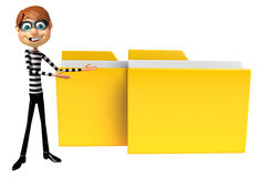 Thief with Folder. 3d rendered illustration of Thief with Folder Royalty Free Stock Photography