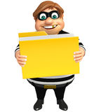 Thief with Folder. 3d rendered illustration of Thief with Folder Royalty Free Stock Photos