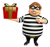 Thief with Giftbox Stock Photography