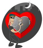Thief of hearts Stock Photography
