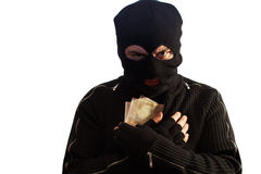 Thief with hidden money Stock Photos