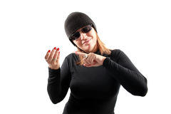 Thief holding Stock Photography