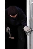 Thief at home Royalty Free Stock Photography
