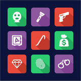 Thief Icons Flat Design Royalty Free Stock Image