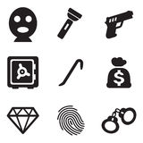 Thief Icons. This image is a vector illustration and can be scaled to any size without loss of resolution Royalty Free Stock Photos