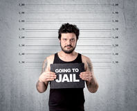 Thief in jail. Stock Photography