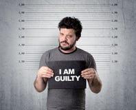 Thief in jail. Stock Photo