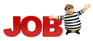 Thief with Job sign Stock Images