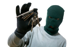 Thief with keys Stock Photos