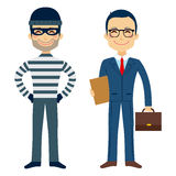 Thief And Lawyer vector illustration