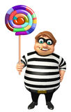 Thief with Lollypop Stock Image