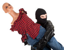 Thief with mannequin Royalty Free Stock Photo