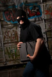 Thief in a mask Royalty Free Stock Photos