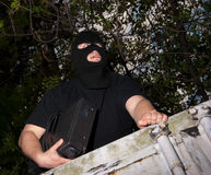 Thief in a mask Royalty Free Stock Photography