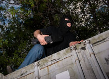Thief in a mask Royalty Free Stock Photo