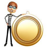 Thief with medal. 3d rendered illustration of Thief with medal Royalty Free Stock Photo