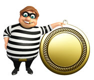 Thief with Medal. 3d rendered illustration of Thief with Medal Stock Photos