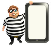 Thief with Mobile. 3d rendered illustration of Thief with Mobile Stock Photos