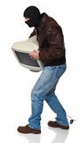 Thief  with monitor Stock Photography