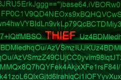 Thief online concept Stock Images