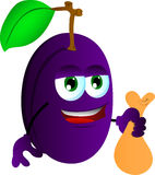 Thief plum holding a sack Royalty Free Stock Image