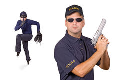 Thief and policeman Royalty Free Stock Photo