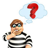 Thief with Question mark Royalty Free Stock Photo