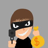 Thief is robbing Stock Photo
