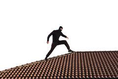 Thief on the roof royalty free stock image