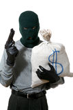 Thief with sack Royalty Free Stock Photos